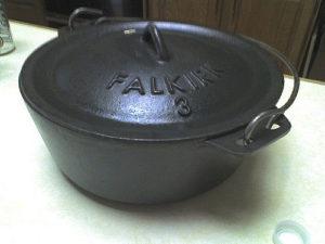 A cast-iron dutch oven