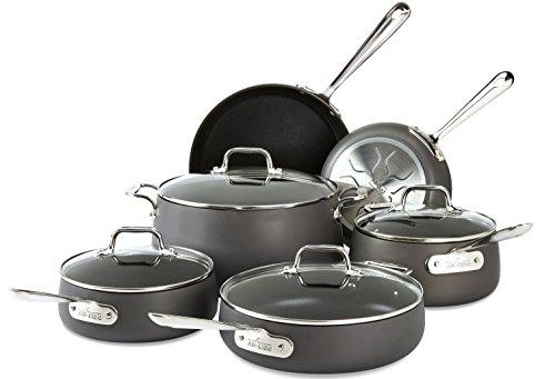 All-Clad E785SC64 Nonstick Induction Cookware Set