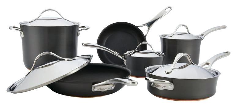Anolon Nouvelle Copper Hard-Anodized Nonstick Cookware Set