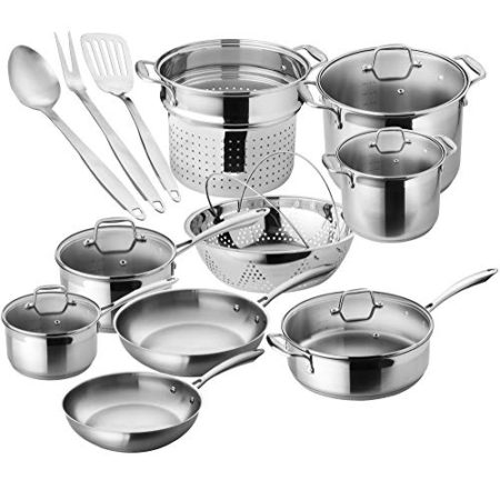 Duxtop SSIB-17 Stainless Steel Induction Cookware Set