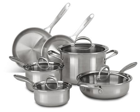 KitchenAid KC2CS10ST Copper Core Non Stick induction Cookware Set