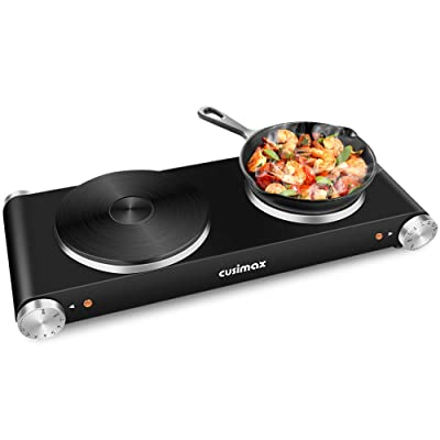 CUSIMAX Double Hot Plates, 1800W Double Burner