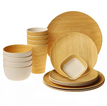 Earth's Dreams Reusable Bamboo Fiber Tableware Dinnerware Set