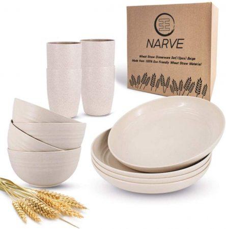 NARVE Wheat Straw Dinnerware Sets