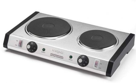 Waring Commercial Cast-Iron Double Burner